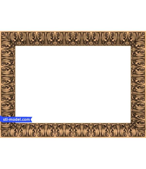"Frame ""Frame #166"" | STL - 3D model for CNC"