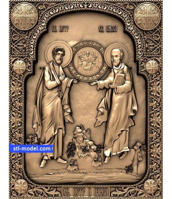 """Icon """"St. Peter and Paul #1"""" 