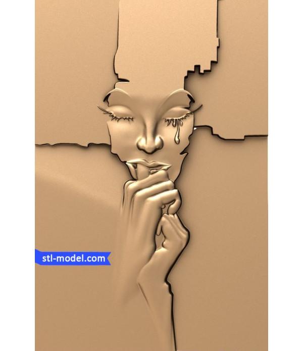 "Bas-relief ""Tear"" | STL - 3D model for CNC"