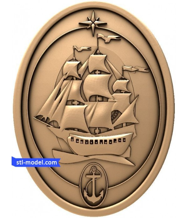 "Bas-relief ""Sailboat"" 