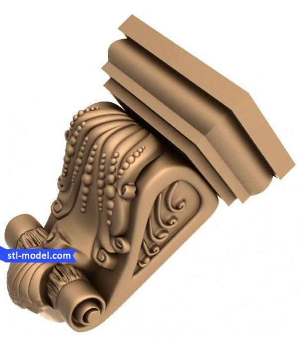"Corbel ""Corbel #7"" | STL - 3D model for CNC"