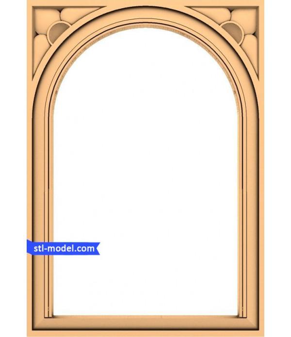 "Frame ""Frame #44"" | STL - 3D model for CNC"