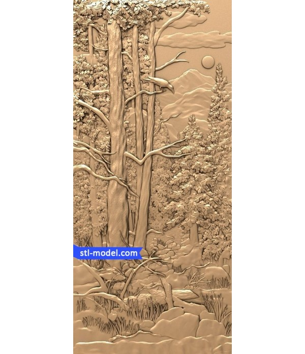 """Bas-relief """"Forest #2"""" 