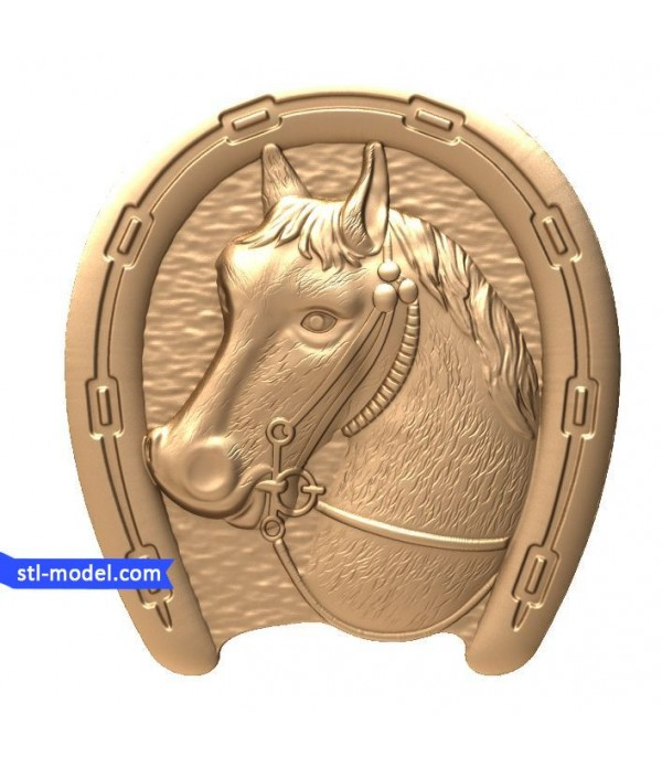 "Bas-relief ""Horseshoe #2"" 