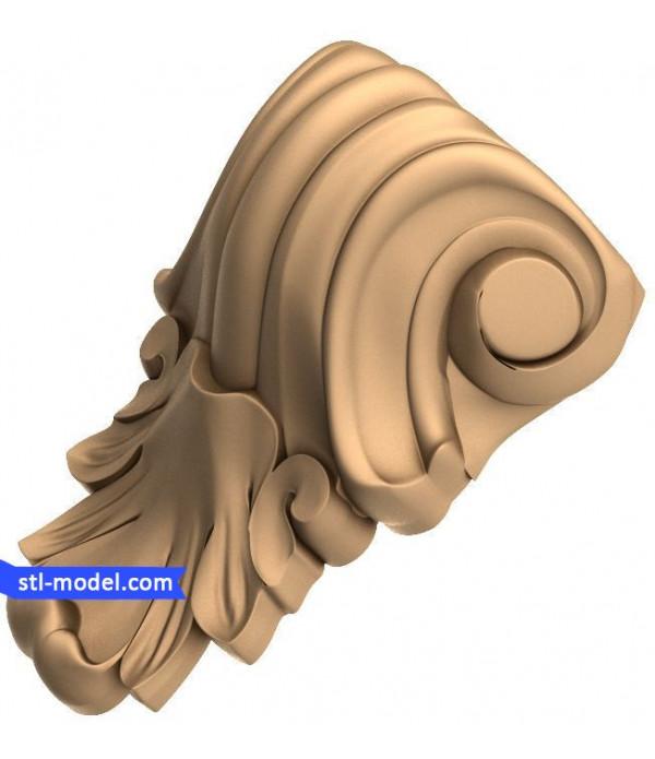"Corbel ""Corbel #70"" | STL - 3D model for CNC"
