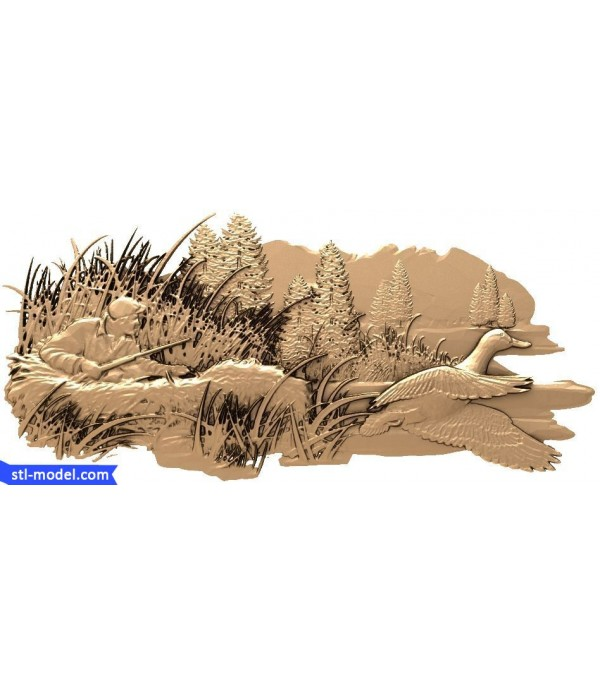 """Bas-relief """"In the swamp"""" 
