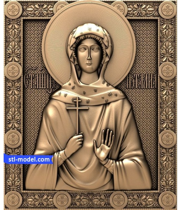 "Icon ""Holy Natalia #1"" | STL - 3D model for CNC"