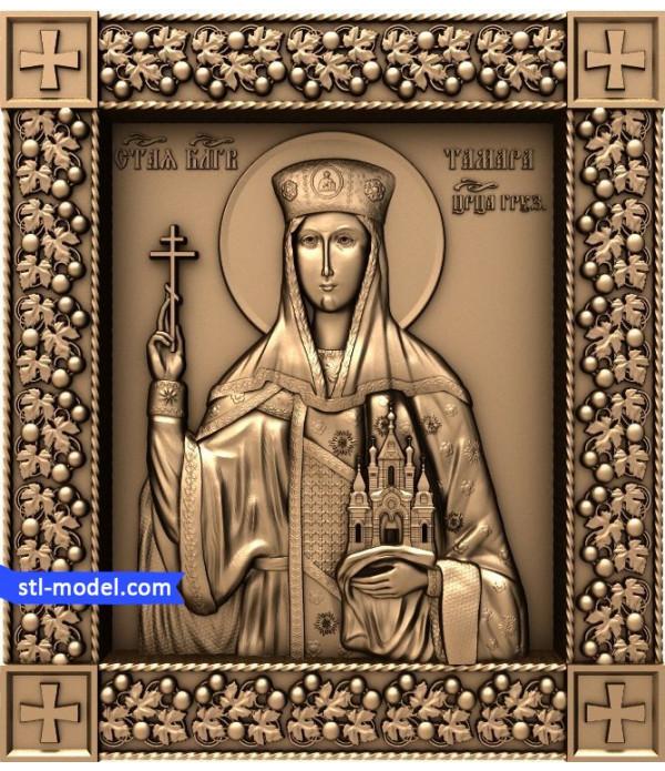 "Icon ""Queen Tamara"" | STL - 3D model for CNC"