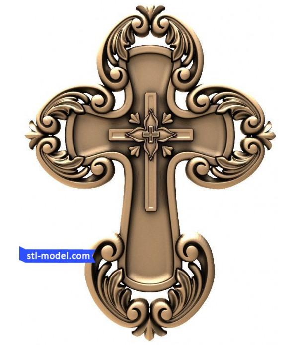 "Cross ""Cross #10"" | STL - 3D model for CNC"