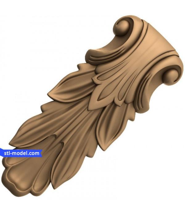 "Corbel ""Corbel #87""   STL - 3D model for CNC"