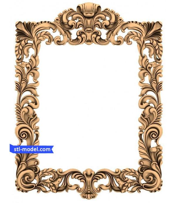 "Frame ""Frame #55"" | 3D STL model for CNC"