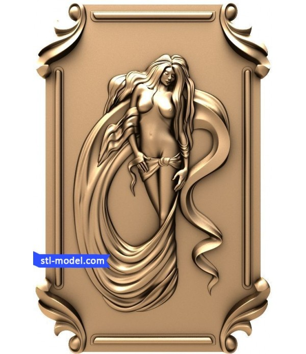 """Bas-relief """"Girl #6"""" 