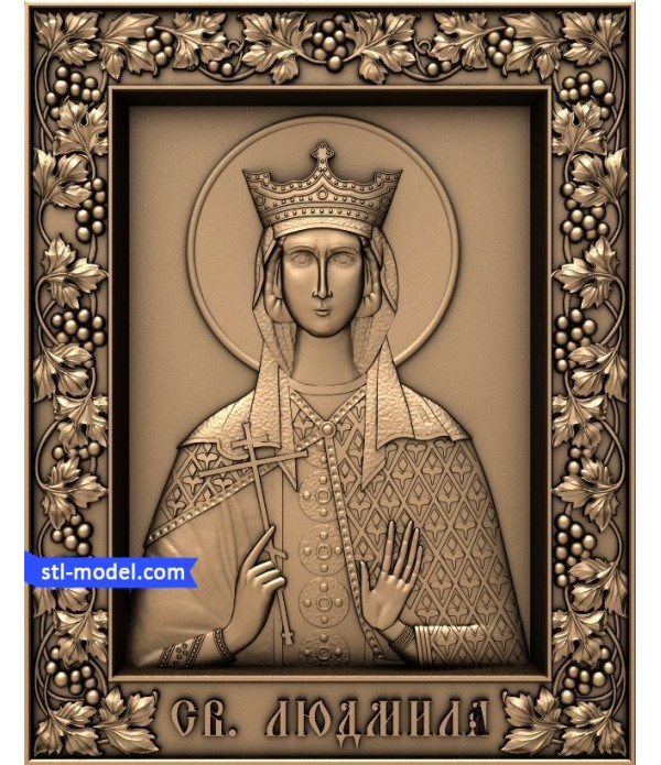 "Icon ""Saint Ludmila"" | STL - 3D model for CNC"