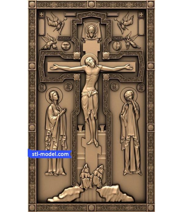 "Cross ""Crucifixion #3"" | STL - 3D model for CNC"