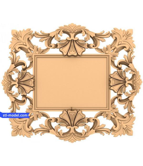"Frame ""Frame #54"" | STL - 3D model for CNC"