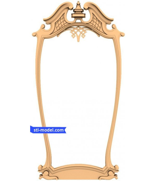 "Frame ""Frame #57"" | STL - 3D model for CNC"