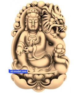 Bodhisattva with the dragon