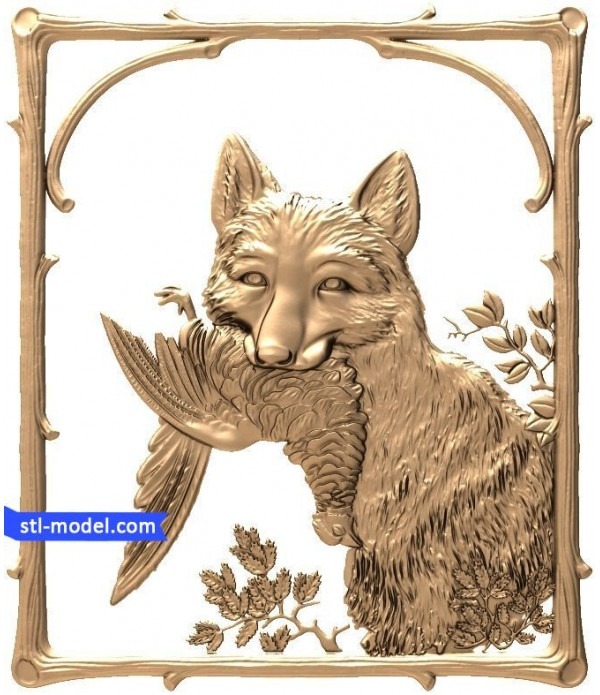 "Bas-relief ""Fox"" 