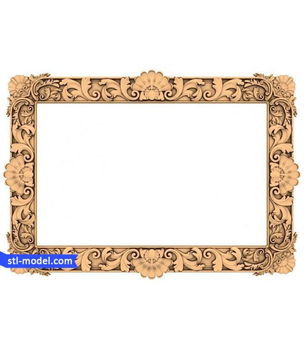 "Frame ""Frame #93"" | STL - 3D model for CNC"