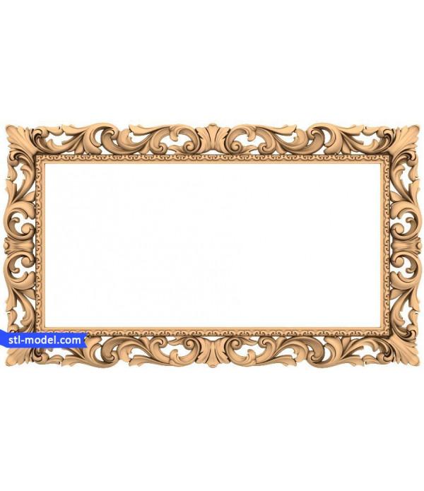 "Frame ""Frame #175"" | STL - 3D model for CNC"
