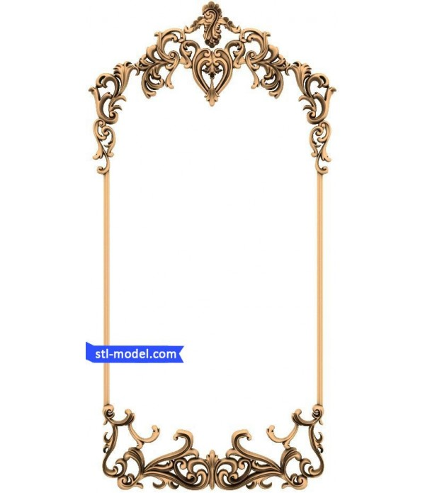 "Frame ""Frame #60"" | STL - 3D model for CNC"