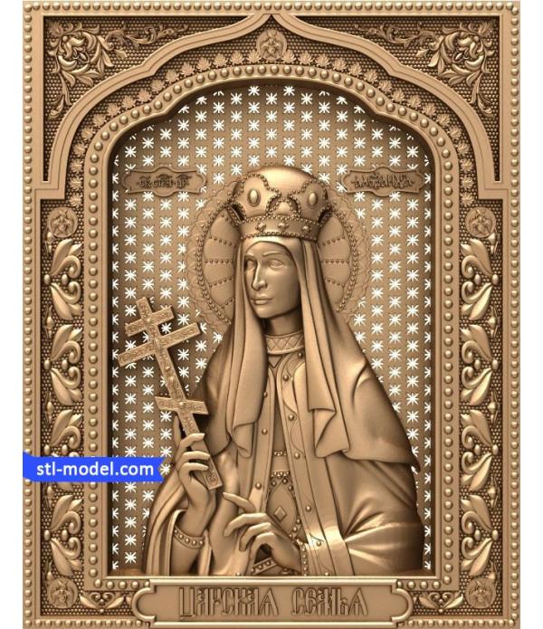 "Icon ""Princess Alexandra"" | STL - 3D model for CNC"