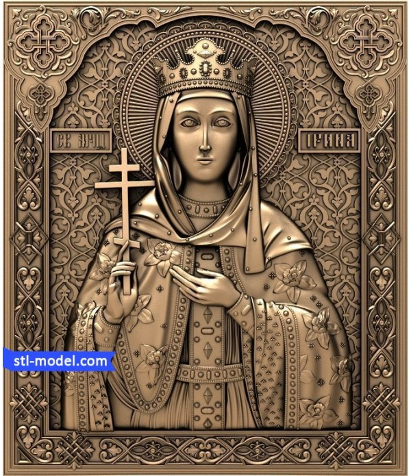 "Icon ""Holy Irina #2"" 