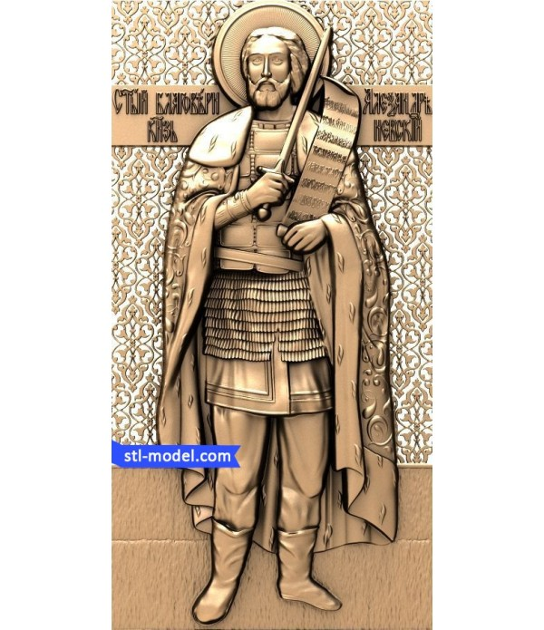 "Icon ""Alexander Nevsky #4"" 