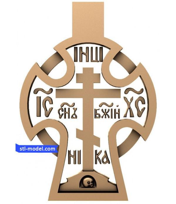 "Cross ""Cross #8"" | STL - 3D model for CNC"