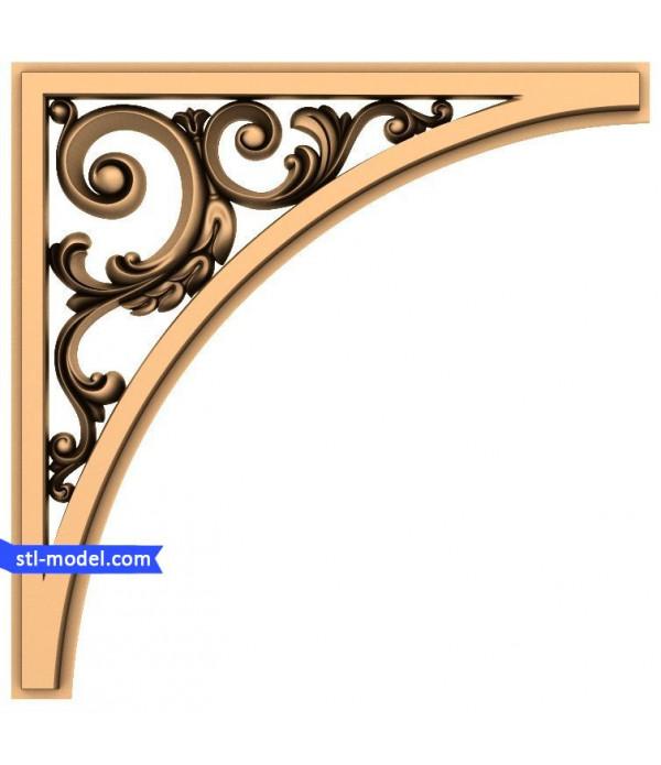 "Corner decor ""Corner decor #3"" | STL - 3D model for CNC"