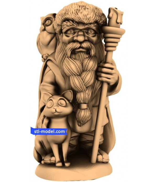 """Character """"Santa, an owl and a cat (4 axis)"""" 
