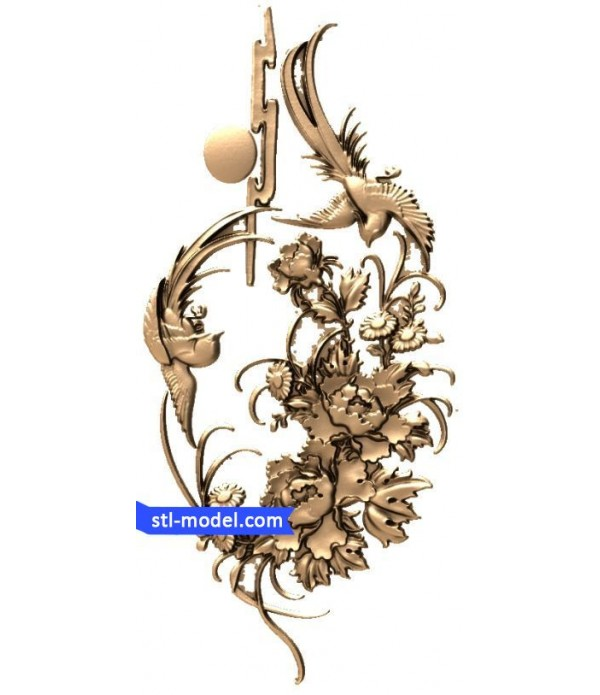 "Flowers ""Flowers #7"" | STL - 3D model for CNC"