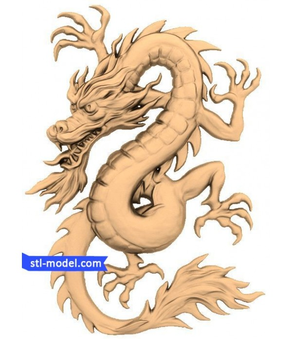 "Bas-relief ""Dragon #2"" 