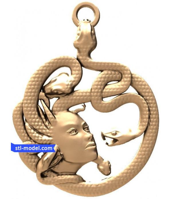 "Bas-relief ""Medusa"" | STL - 3d model for CNC"