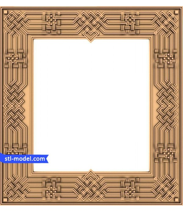 "Frame ""Frame #126"" | STL - 3D model for CNC"