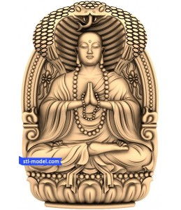 Buddha with a background of №8