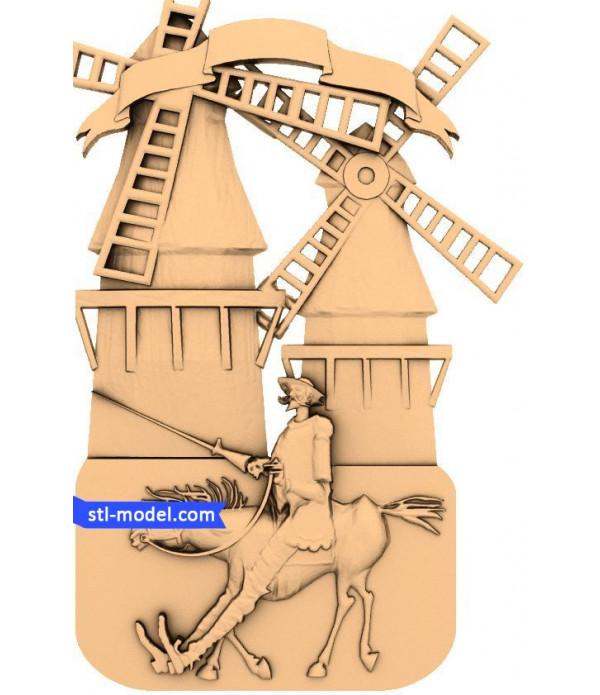 "Bas-relief ""Cowboy"" | STL - 3D model for CNC"