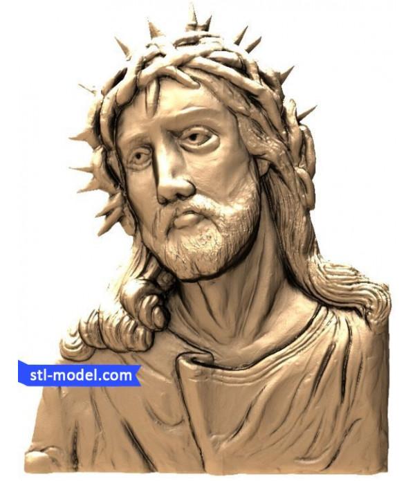 "Icon ""Jesus #2"" | stl - 3d model for CNC"