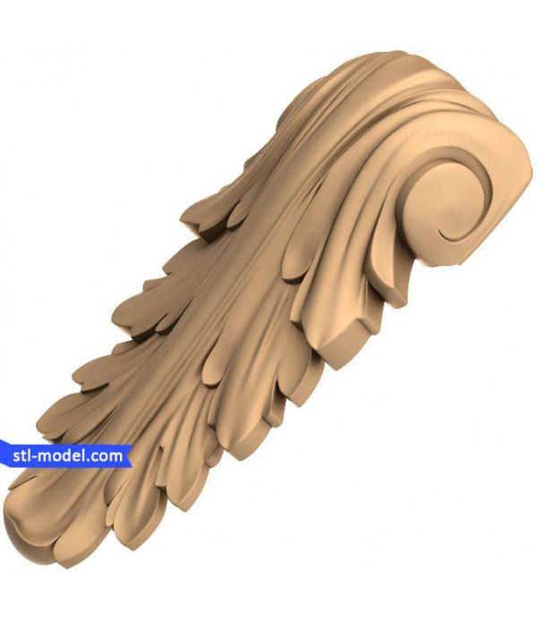 "Corbel ""Corbel #72""   STL - 3D model for CNC"