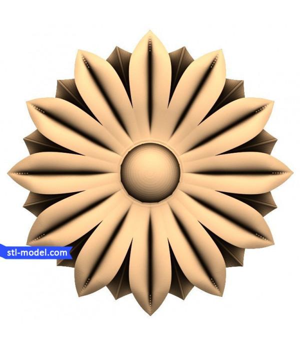 """Rosette """"Rosette #72""""   STL - 3D model for CNC"""