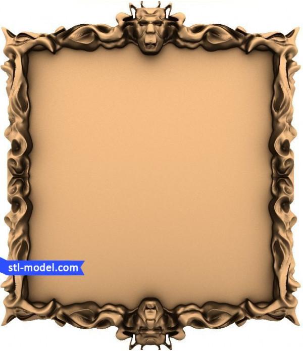"Frame ""Frame #142""   STL - 3D model for CNC"