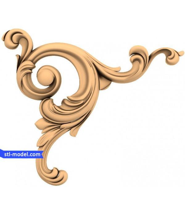 "Corner decor ""Corner decor #8"" | STL - 3D model for CNC"