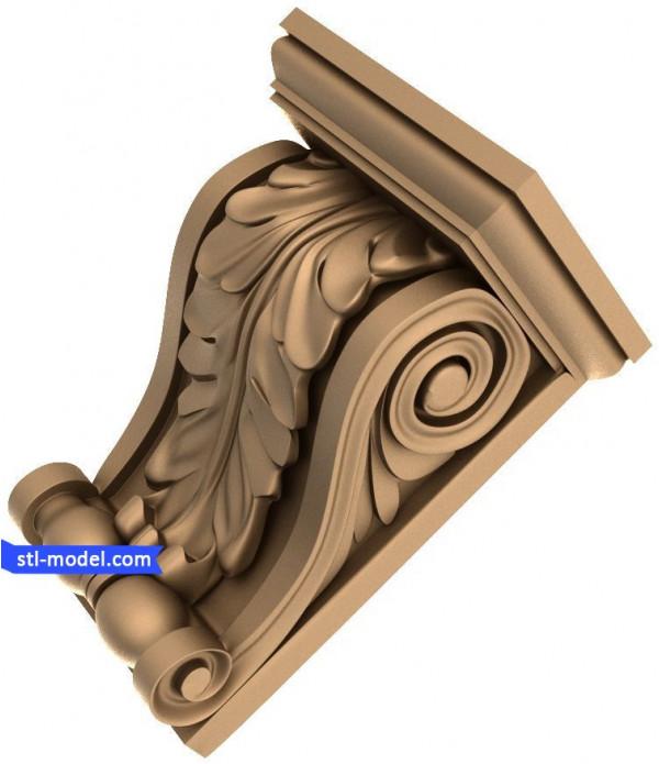 "Corbel ""Corbel #16"" | STL - 3D model for CNC"