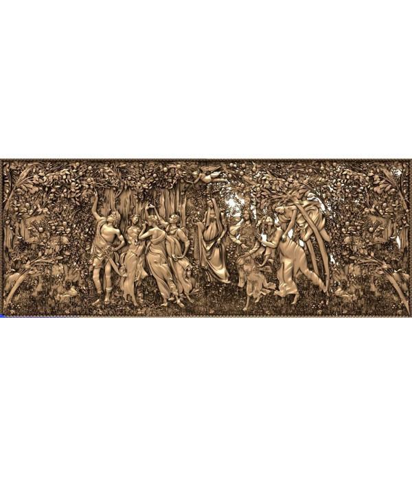 "Bas-relief ""Spring Botticelli"" | STL - 3D model for CNC"