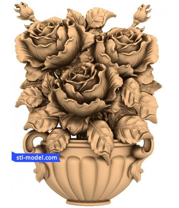"Flowers ""Flowers #5""   STL - 3D model for CNC"