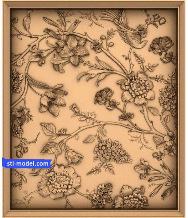 "Flowers ""Flowers #13"" | STL - 3D model for CNC"