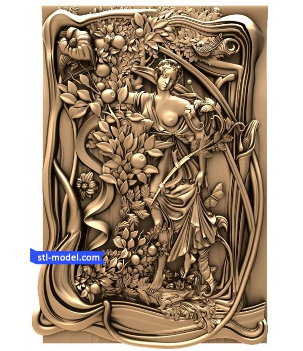 "Bas-relief ""Bas-relief #4"" | STL - 3D model for CNC"