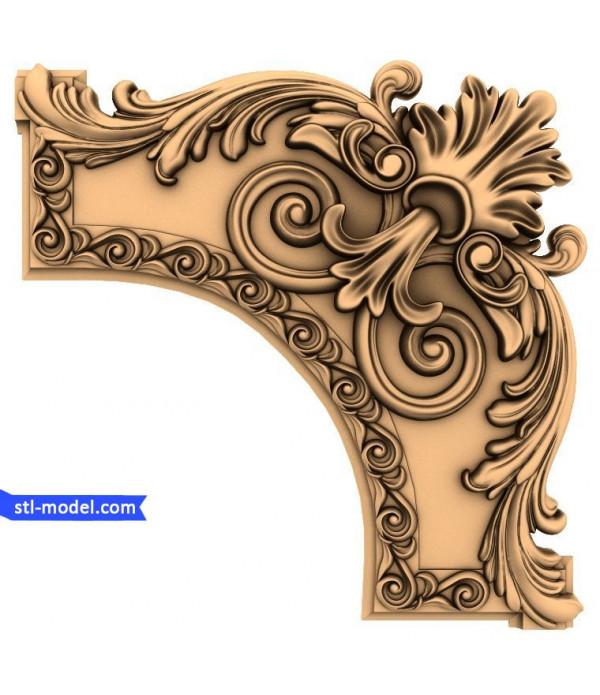 "Corner decor ""Corner decor #6"" | STL - 3D model for CNC"
