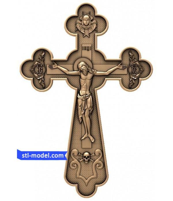 "Cross ""Crucifixion #9"" | STL - 3D model for CNC"