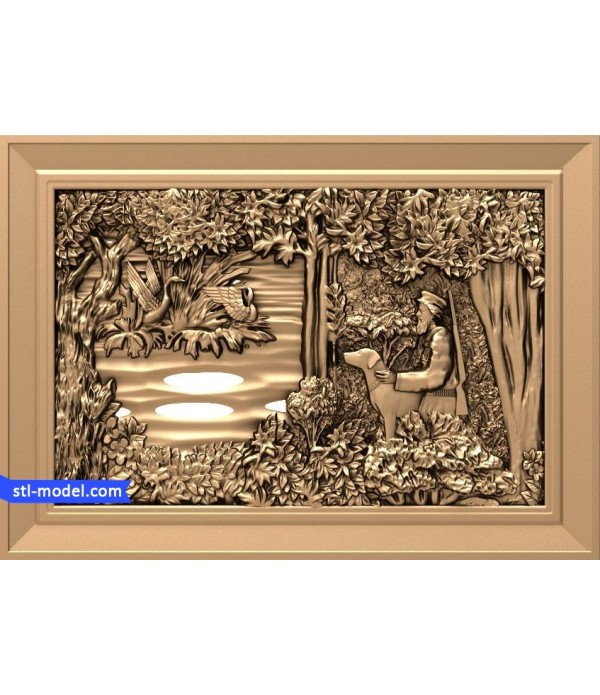 "Bas-relief ""Forester #2"" 